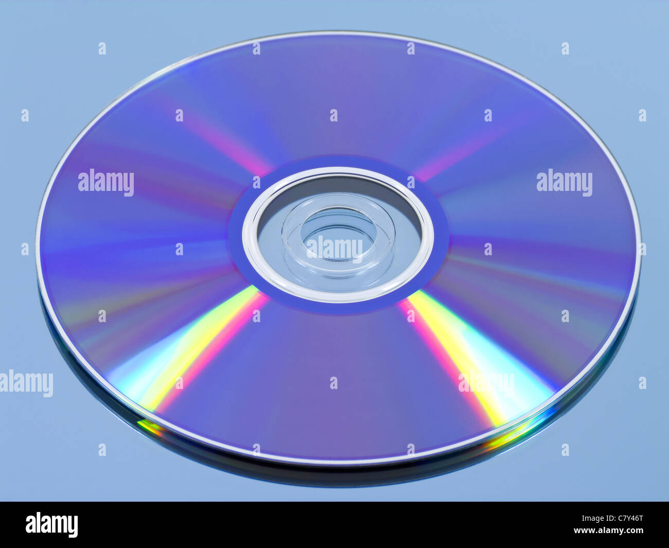 Disk on Blue - Stock Image