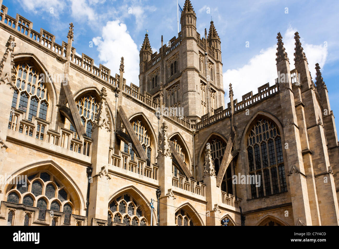 Bath Abbey Somerset England UK - Stock Image