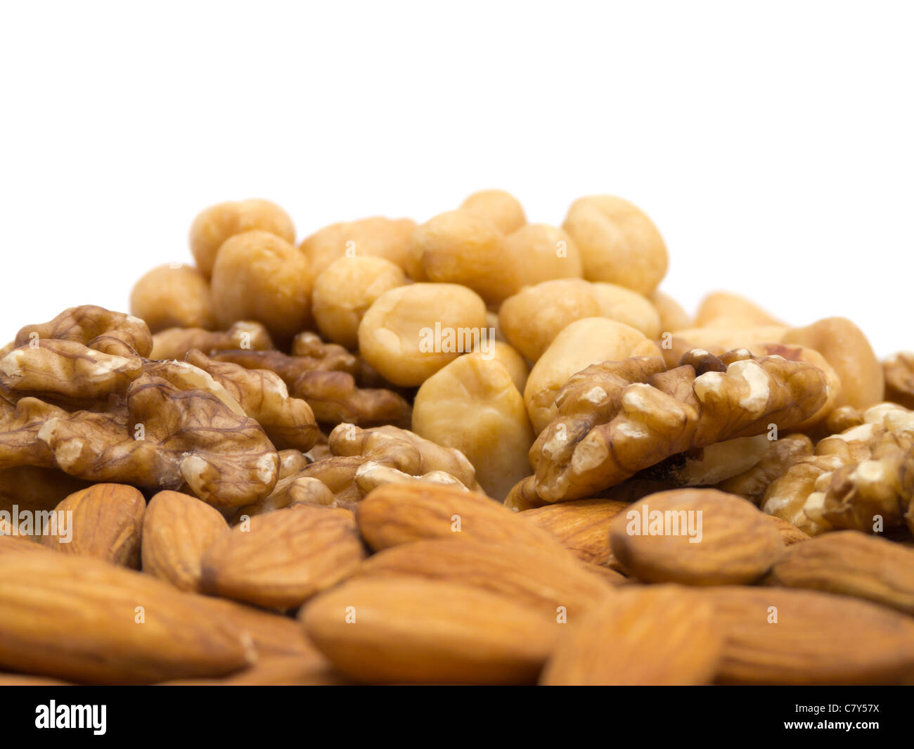 Pile of Nuts Stock Photo