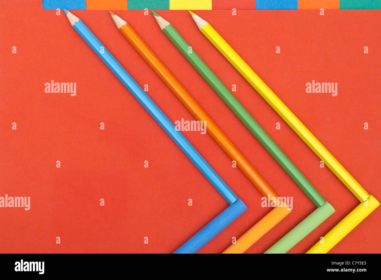 Colorful School Supplies - Stock Image