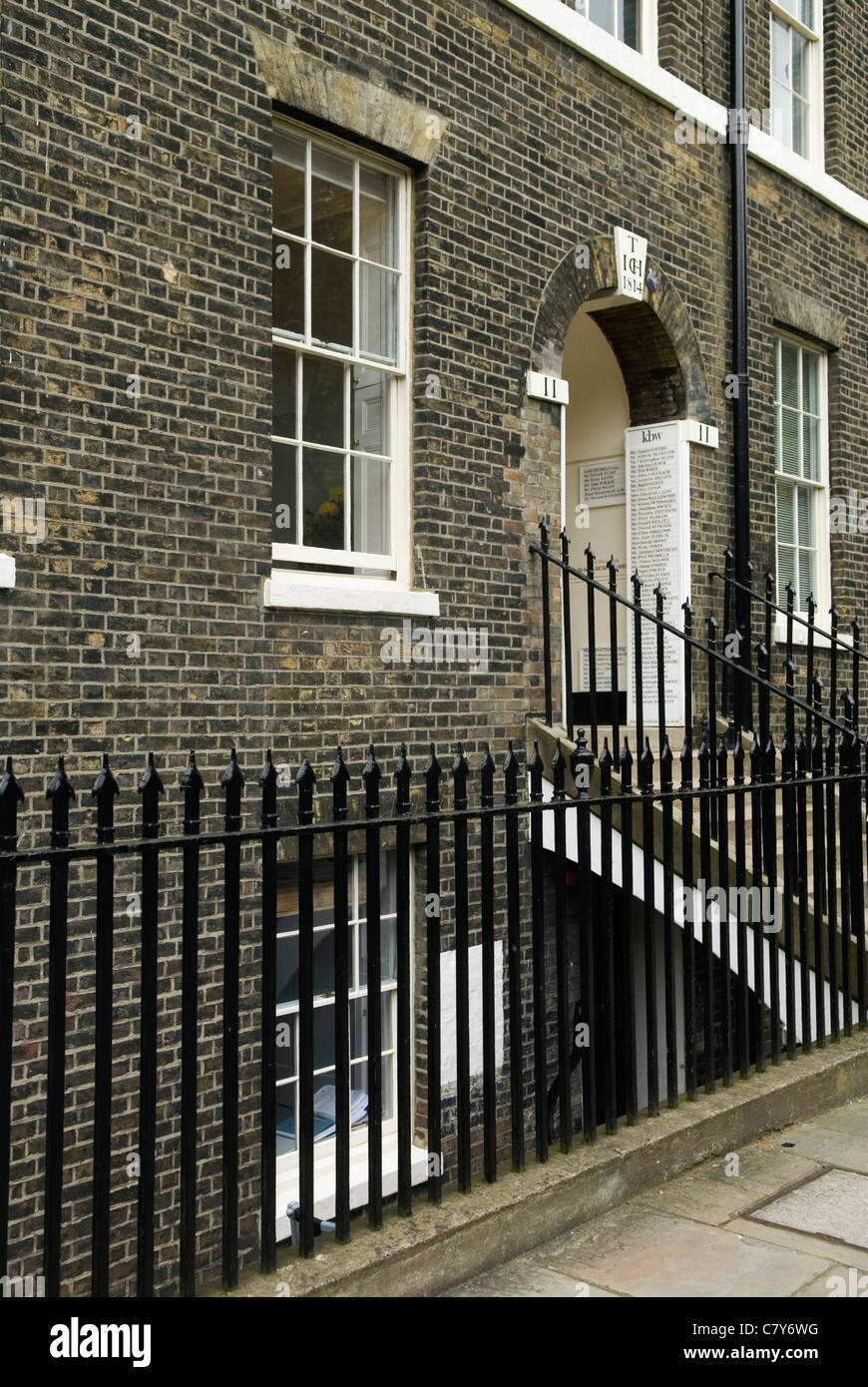 Inns of Court London. Uk. 11 Kings Bench Walk Temple Barristers Chambers Tony Blair - Stock Image