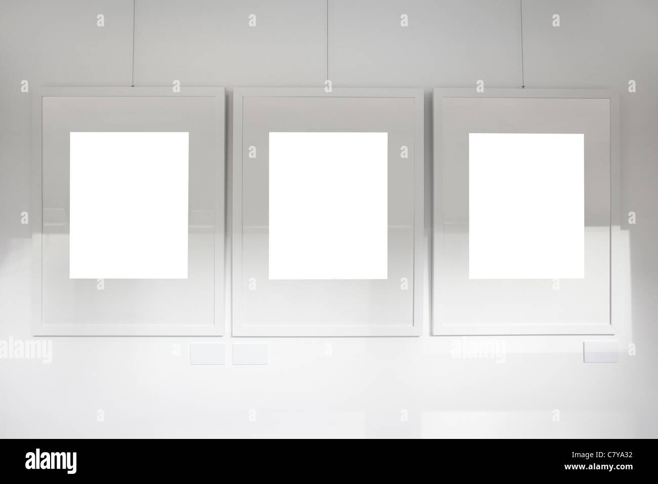 Blank frames on art gallery white wall Stock Photo: 39323958 - Alamy