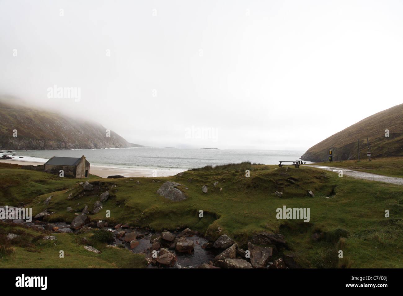 Keem Bay on Achill Island - Stock Image