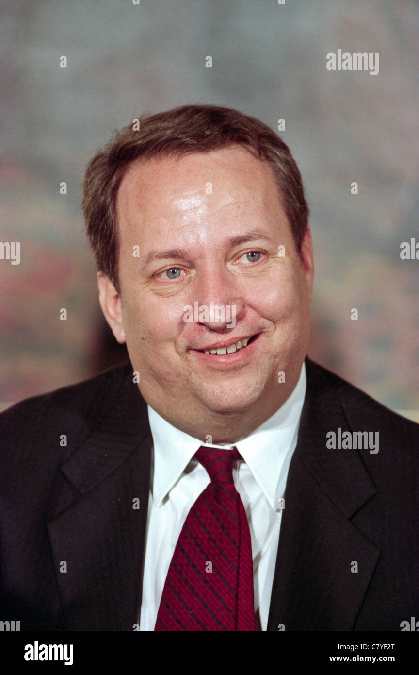 Economist Larry Summers during an event at the White House January 11, 1999 in Washington, DC. - Stock Image