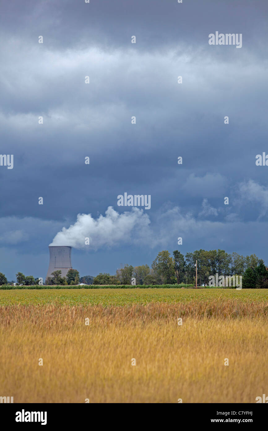 Davis-Besse Nuclear Power Station - Stock Image