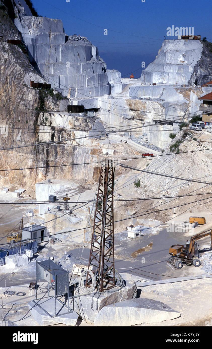 Italy, Tuscany, Apuan Alps, quarry of Carrara marble Stock Photo