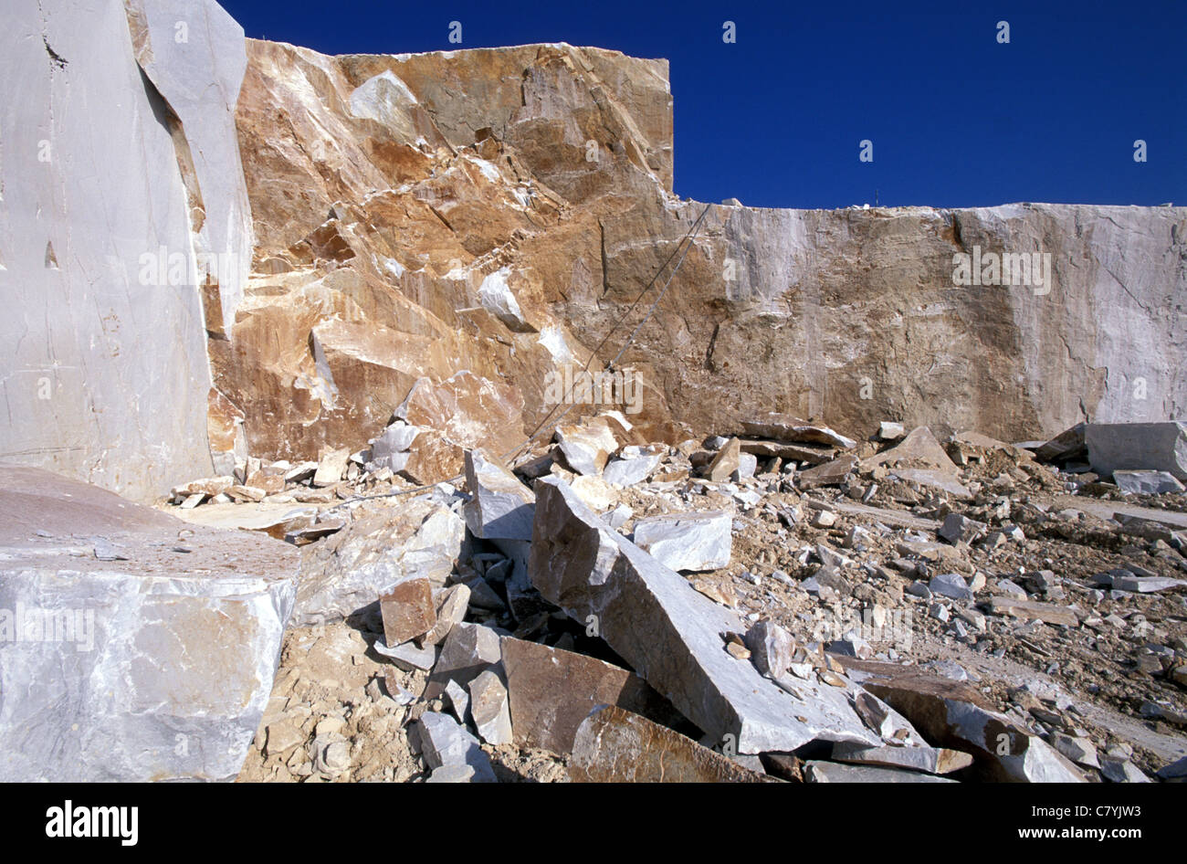 Italy, Tuscany, Apuan Alps, quarry of Carrara marble Stock Photo