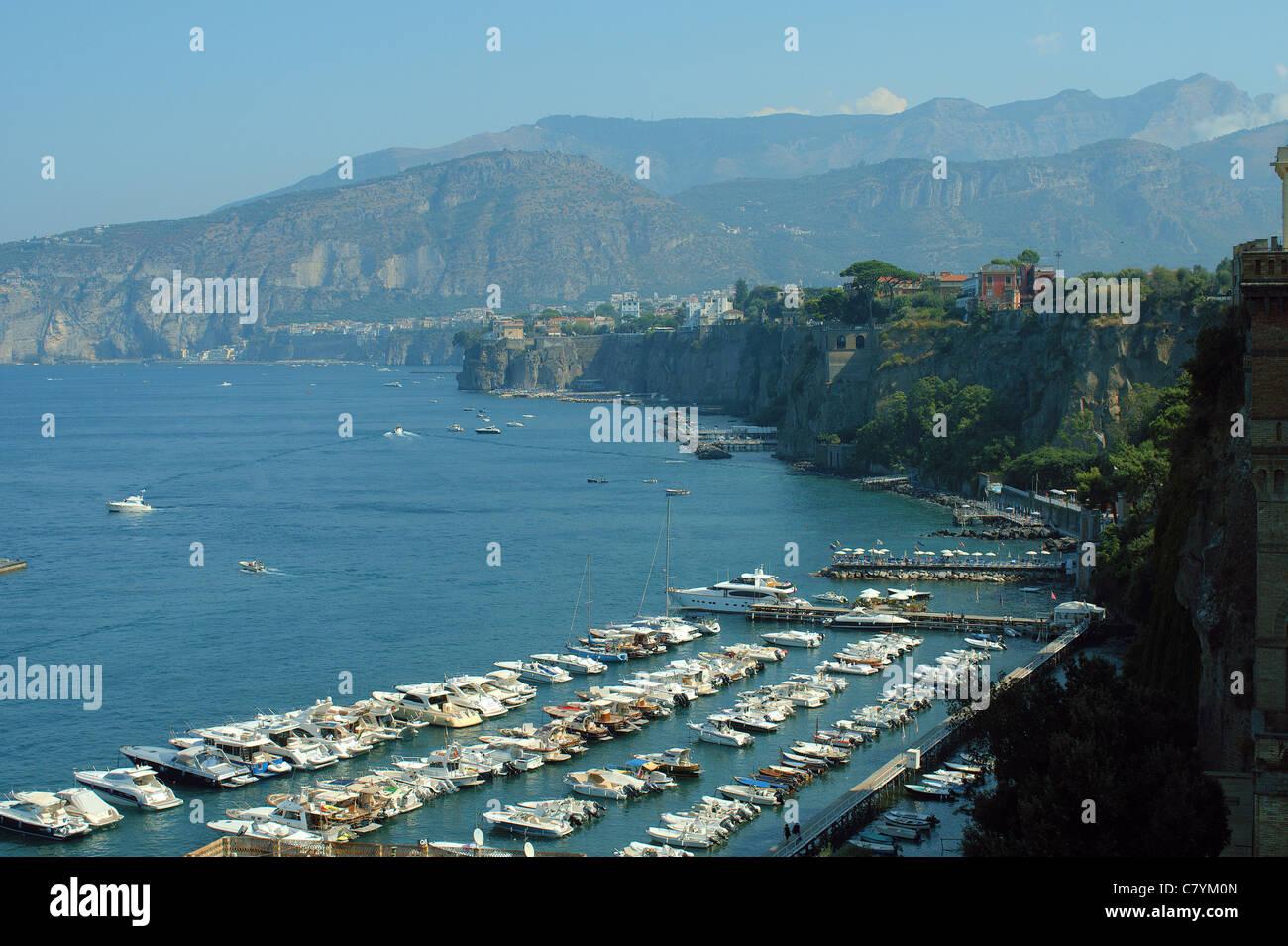 Port of Sorrento Italy Gulf of Naples Bay - Stock Image