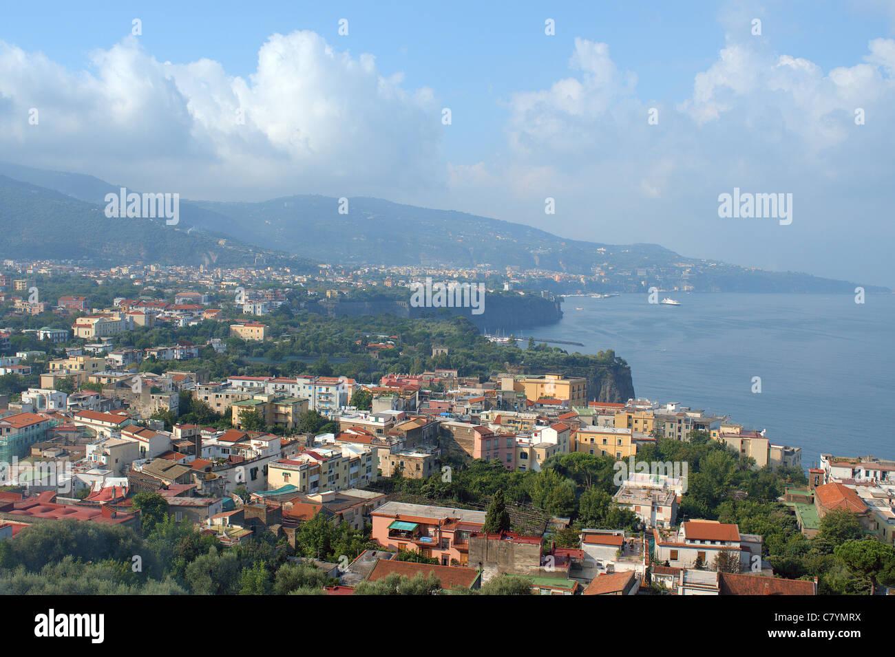 Gulf of Naples near Sorrento - Stock Image