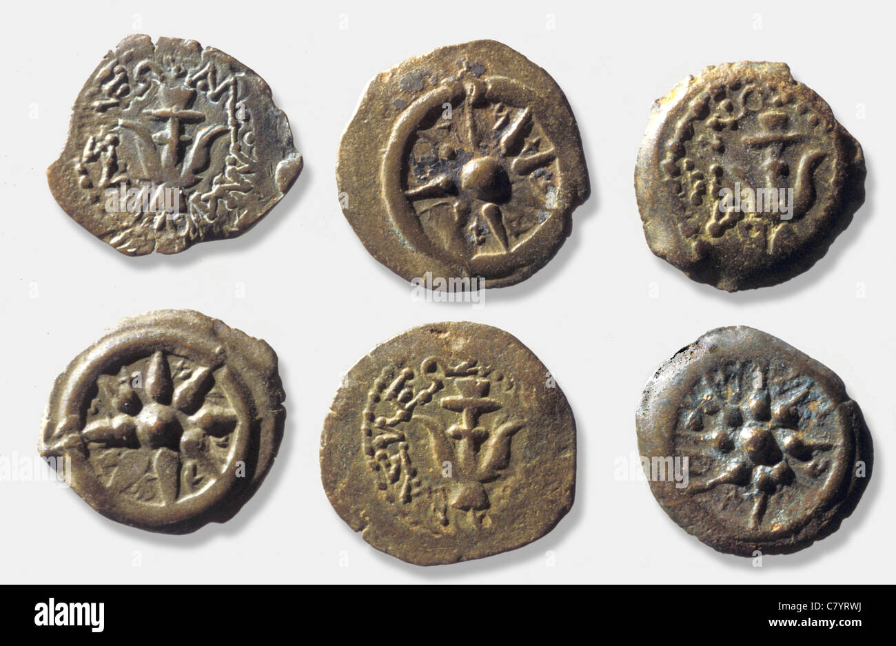 795. COINS OF ALEXANDER YANNAI, A KING OF THE HASMONEAN DYNASTY (103 - 76 B.C.) - Stock Image