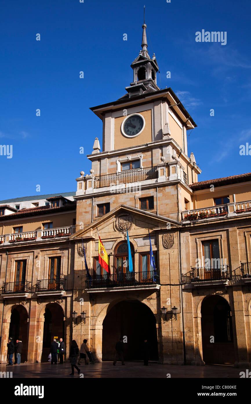 Artistic Historic building town hall Oviedo Asturias Spain - Stock Image