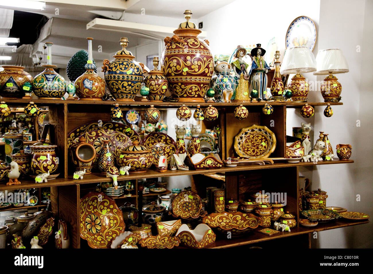 Souvenir Shop With Hand Decorated Ceramics Caltagirone