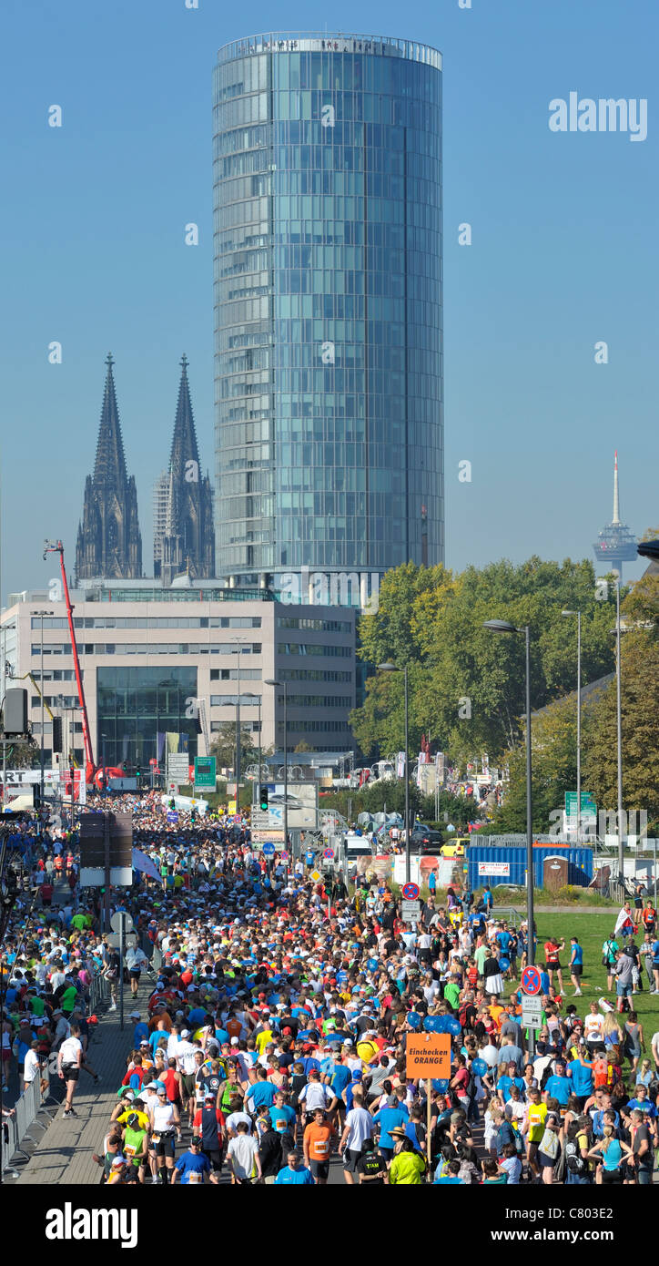 Cologne Marathon 2011 - Stock Image
