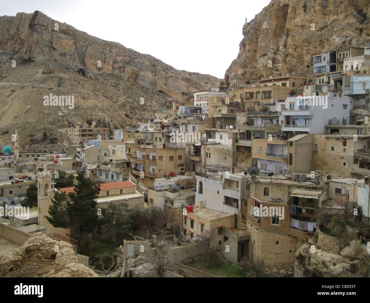 Syria Syrien Maalula  Qalamun Gebirge Stock Photo