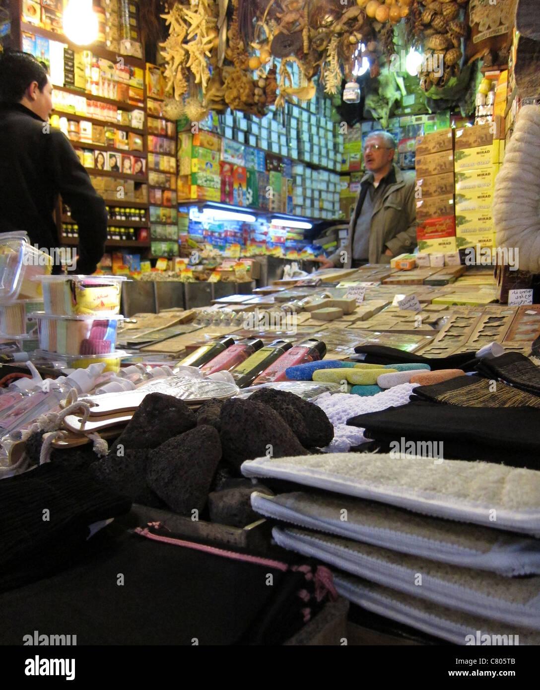 bazaar, bazar, Damascus, Damaskus  Syria, Syrien - Stock Image