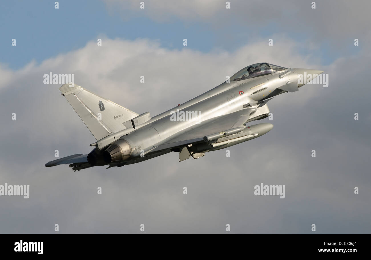 A Eurofighter 2000 Typhoon of the Italian Air Force Stock Photo