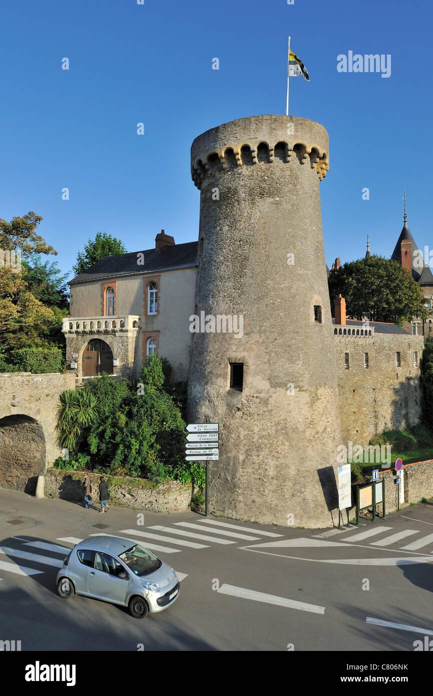 The castle Château de Pornic, Loire-Atlantique, France Stock Photo
