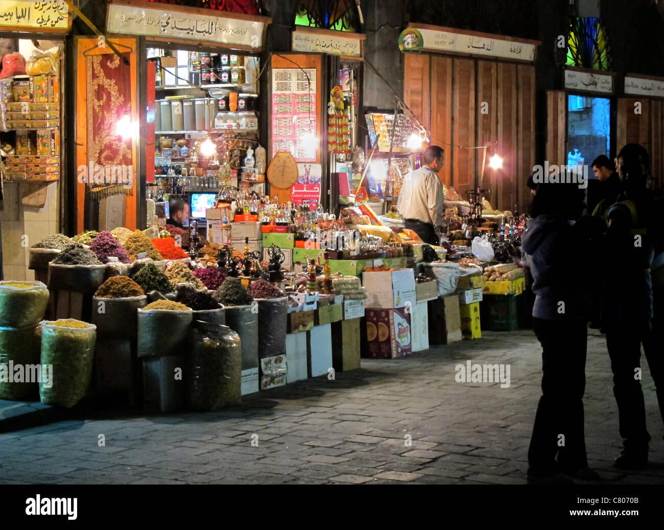bazaar Damascus - Stock Image