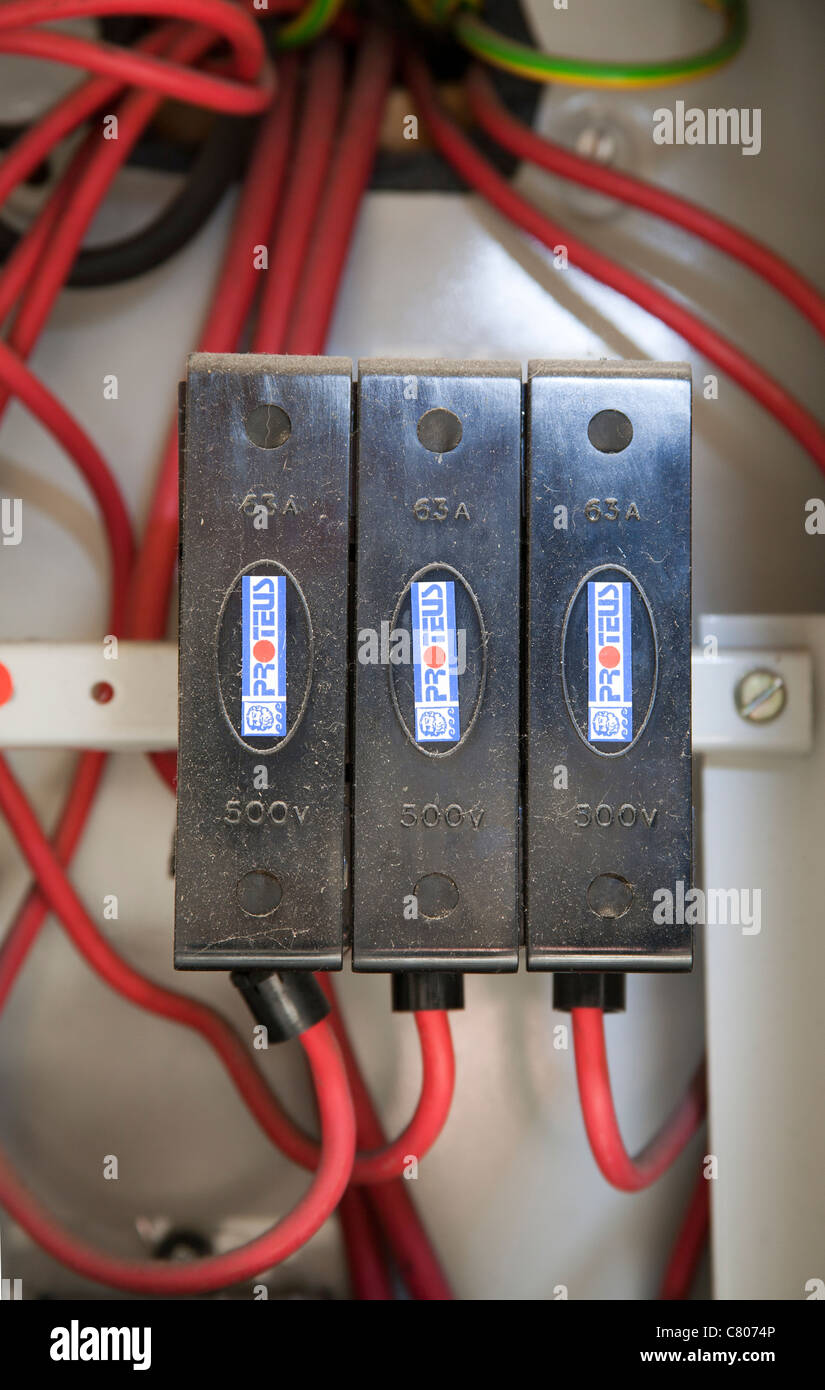 Domestic Fuse Board Stock Photos Images Electricity Mains Plastic Connectors Image