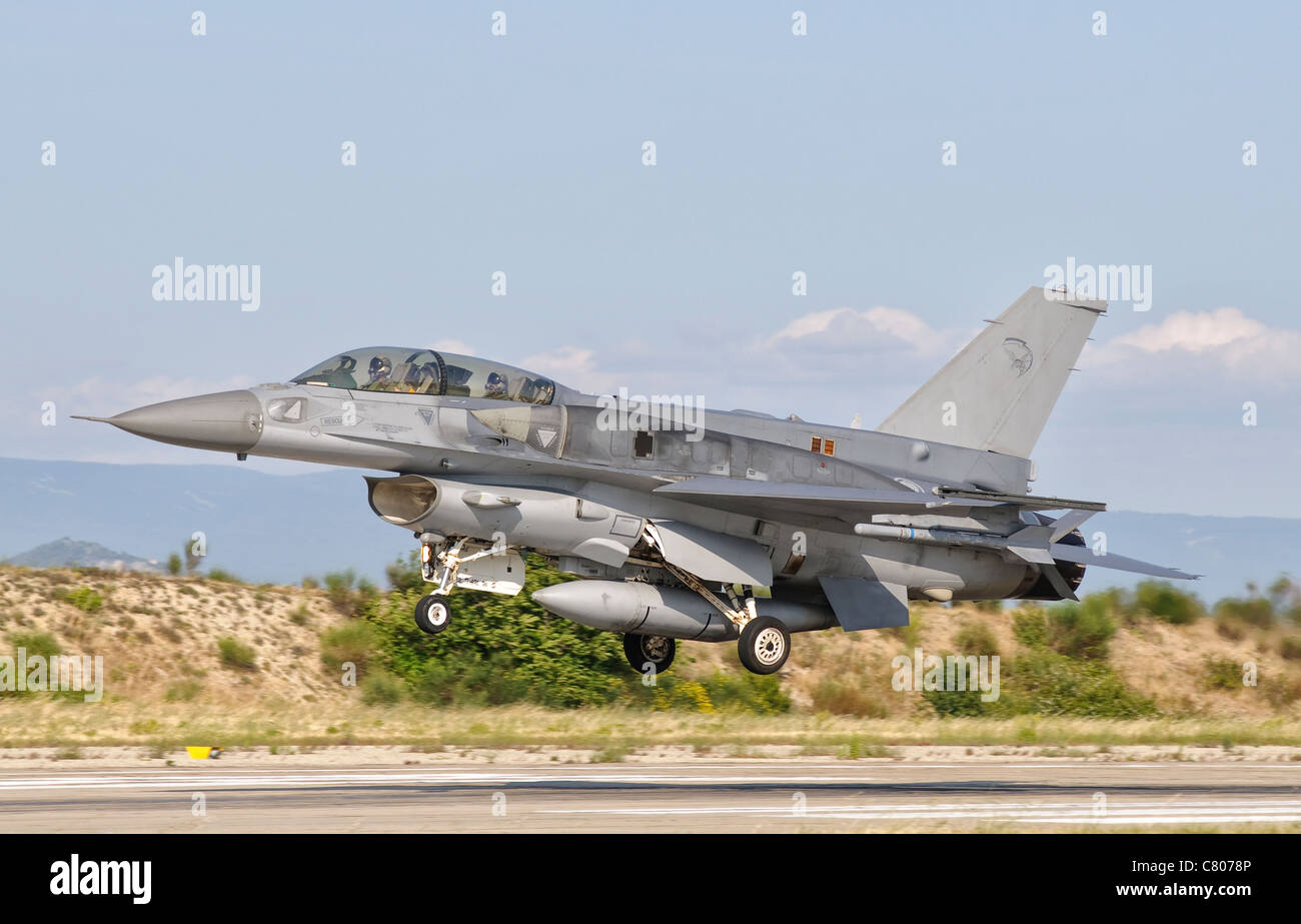An F-16D of the Royal Singapore Air Force. - Stock Image