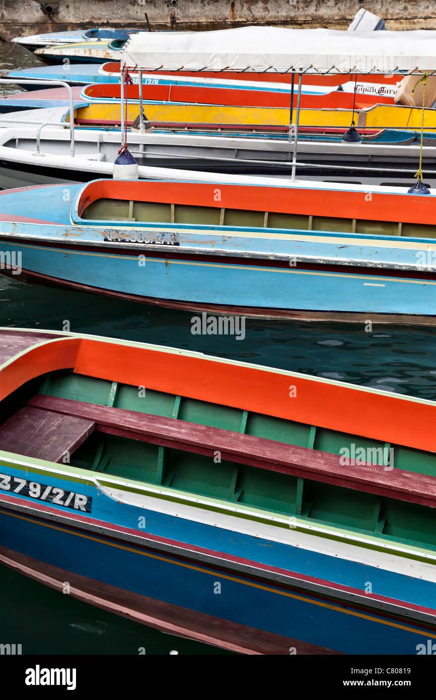 Water taxis, Kota Kinabalu, Sabah, Malaysian Borneo - Stock Image