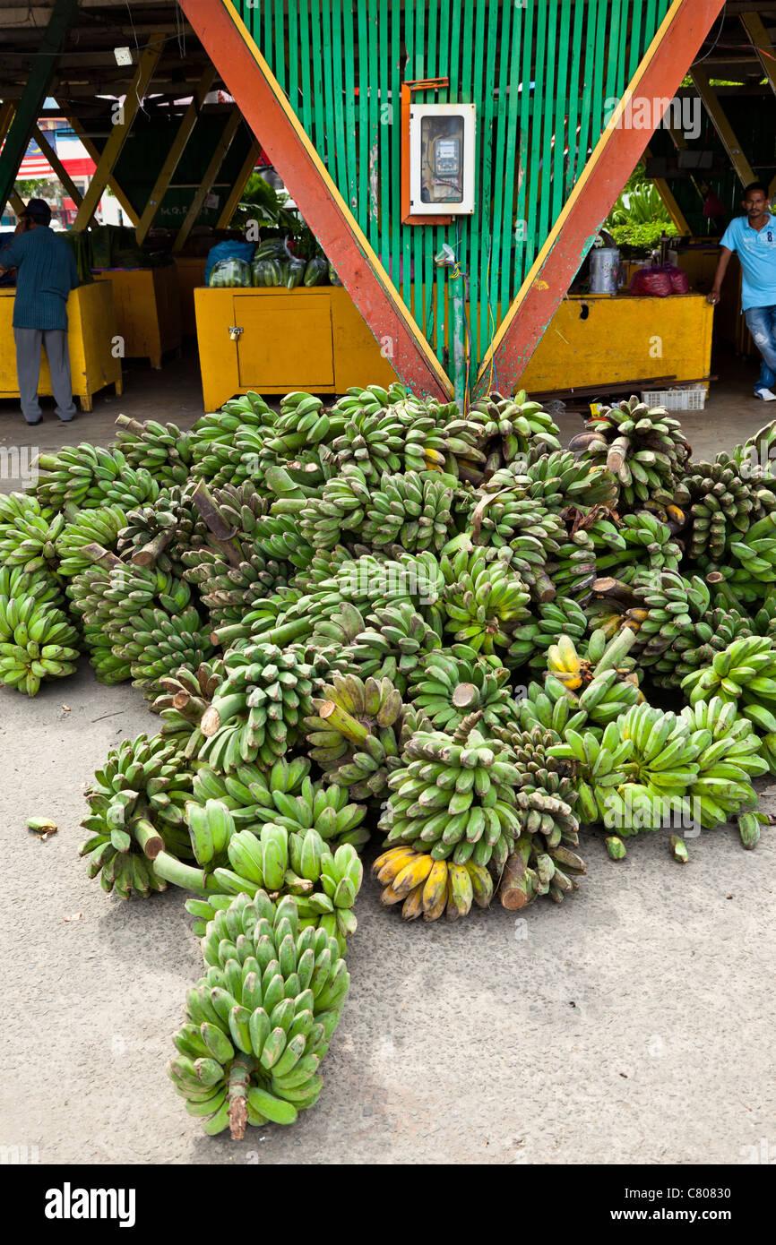 Bananas on sale at the Philippine market, Kota Kinabalu, Sabah, Malaysian Borneo - Stock Image