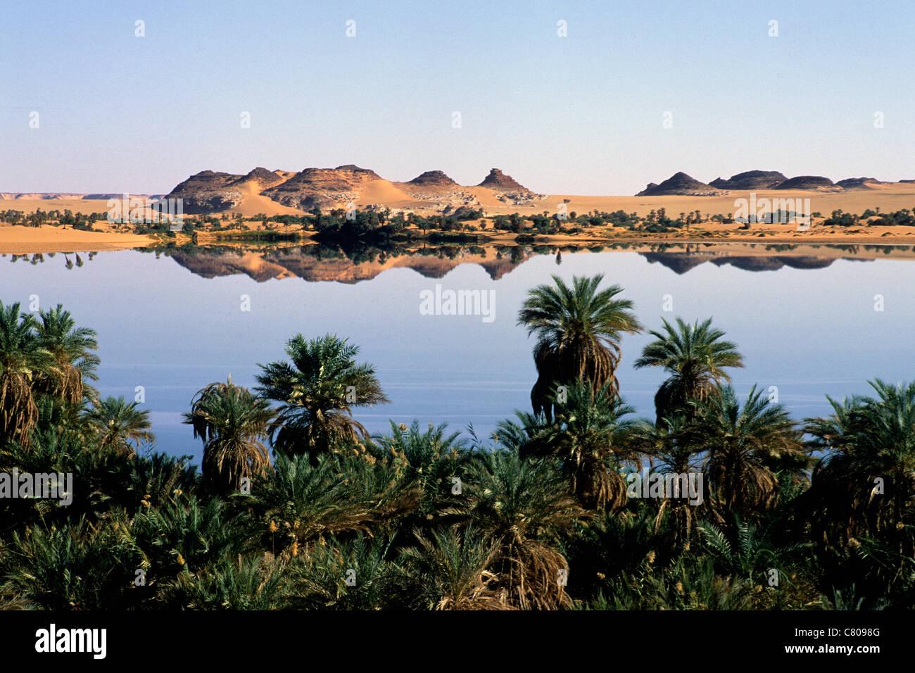 Africa, Chad, Ounianga Serir, Yoa lake - Stock Image
