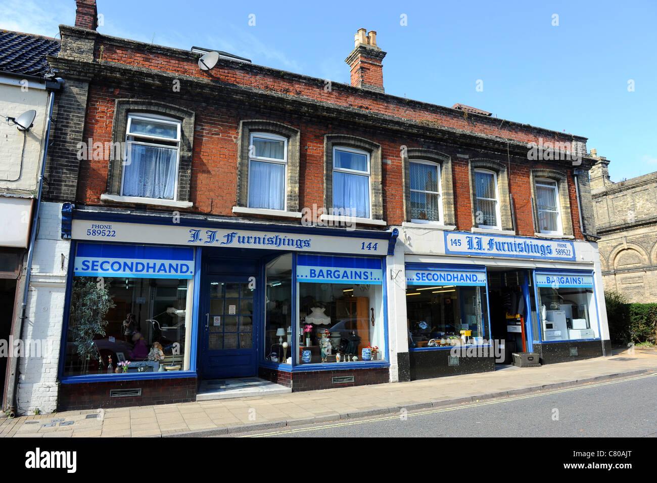 Lowestoft secondhand furniture shop Suffolk England Uk - Stock Image