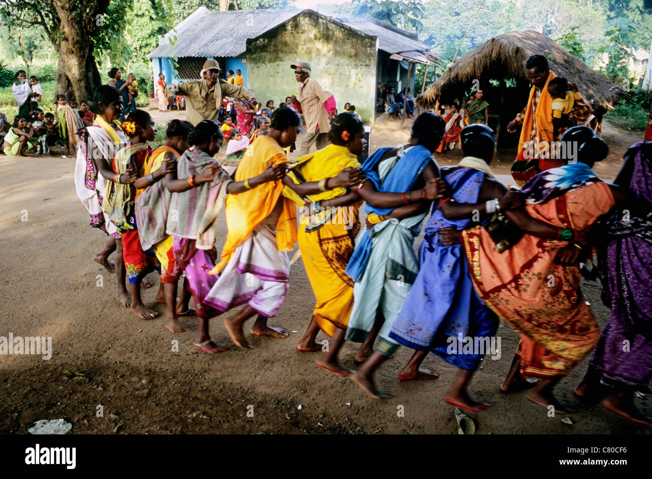 India, Orissa, village dance - Stock Image