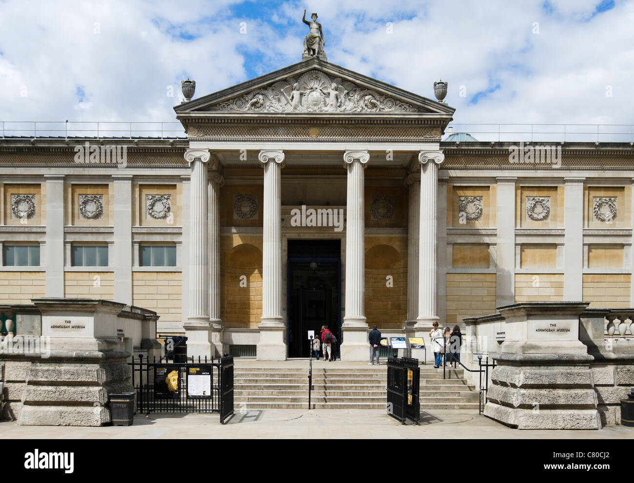 Main entrance to the Ashmolean Museum, Beaumont Street, Oxford, Oxfordshire, England, UK - Stock Image