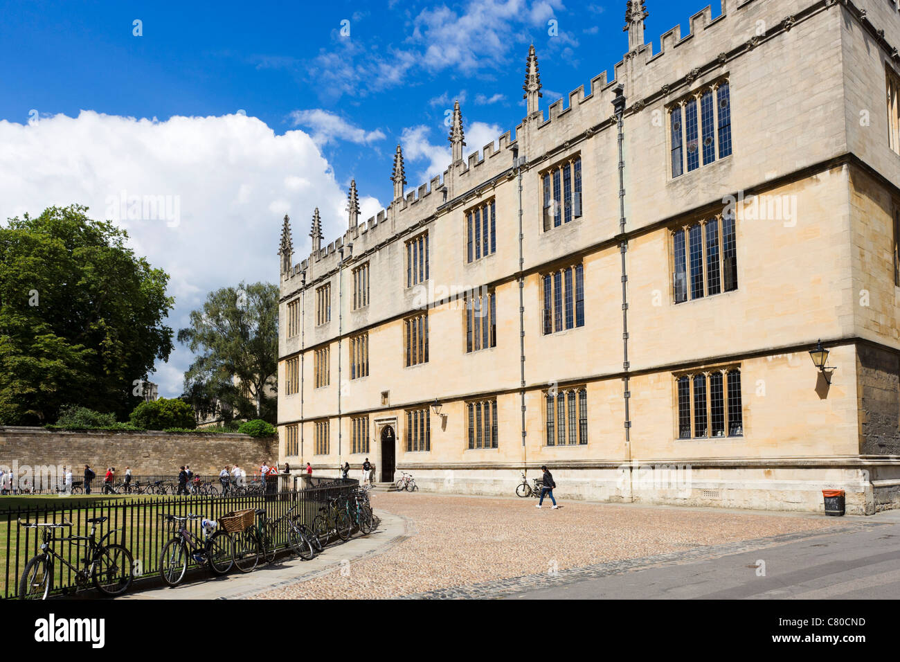 The Bodleian Library from Radcliffe Square, Oxford, Oxfordshire, England, UK - Stock Image