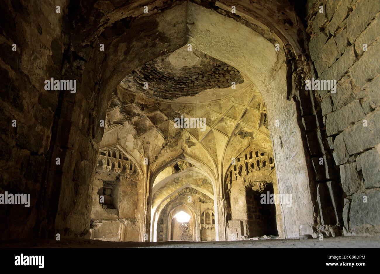 India, Hyderabad, Ap, Golconda Fort - Stock Image