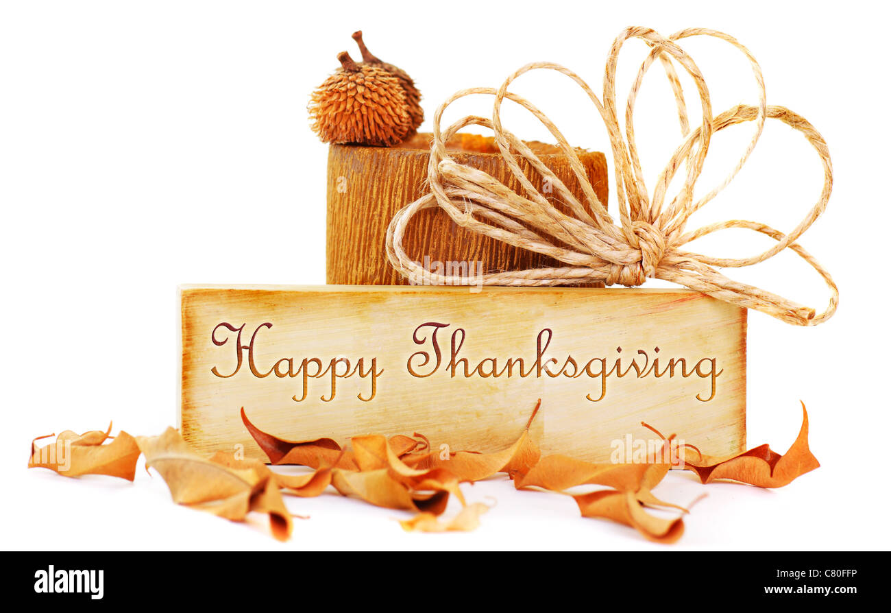 Happy thanksgiving card stock photos happy thanksgiving card stock thanksgiving card isolated on white background stock image m4hsunfo
