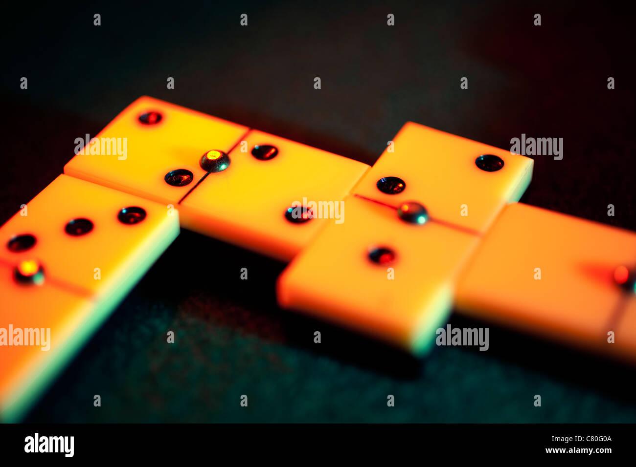 Domino game - Stock Image
