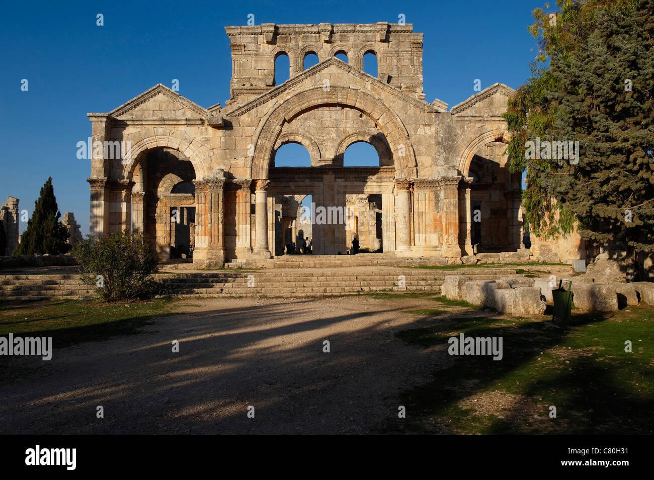Syria, Qala'at Samaan, Saint Simeon Ruins. - Stock Image