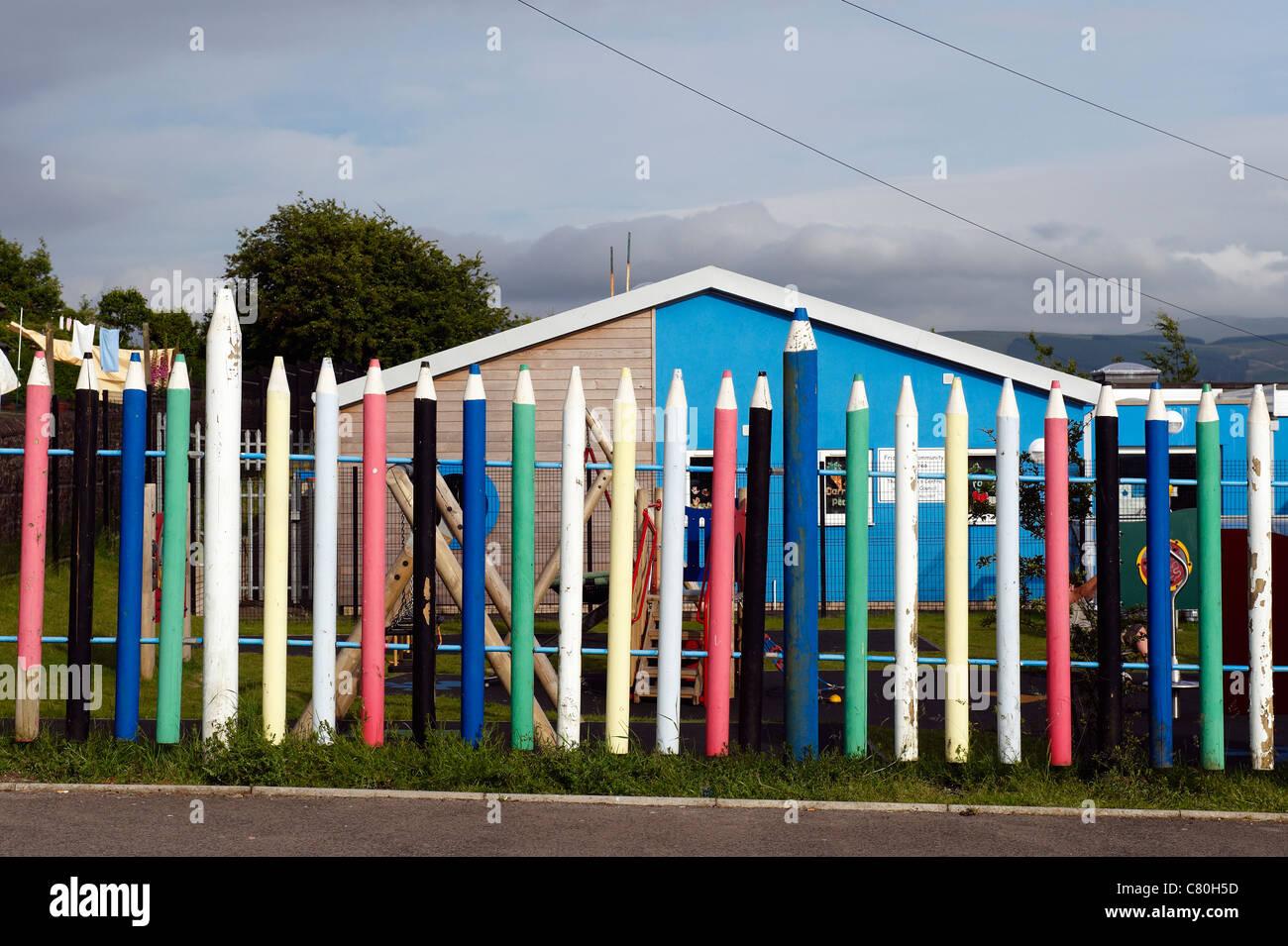 United Kingdom, England, Cumbria, Cleator school - Stock Image