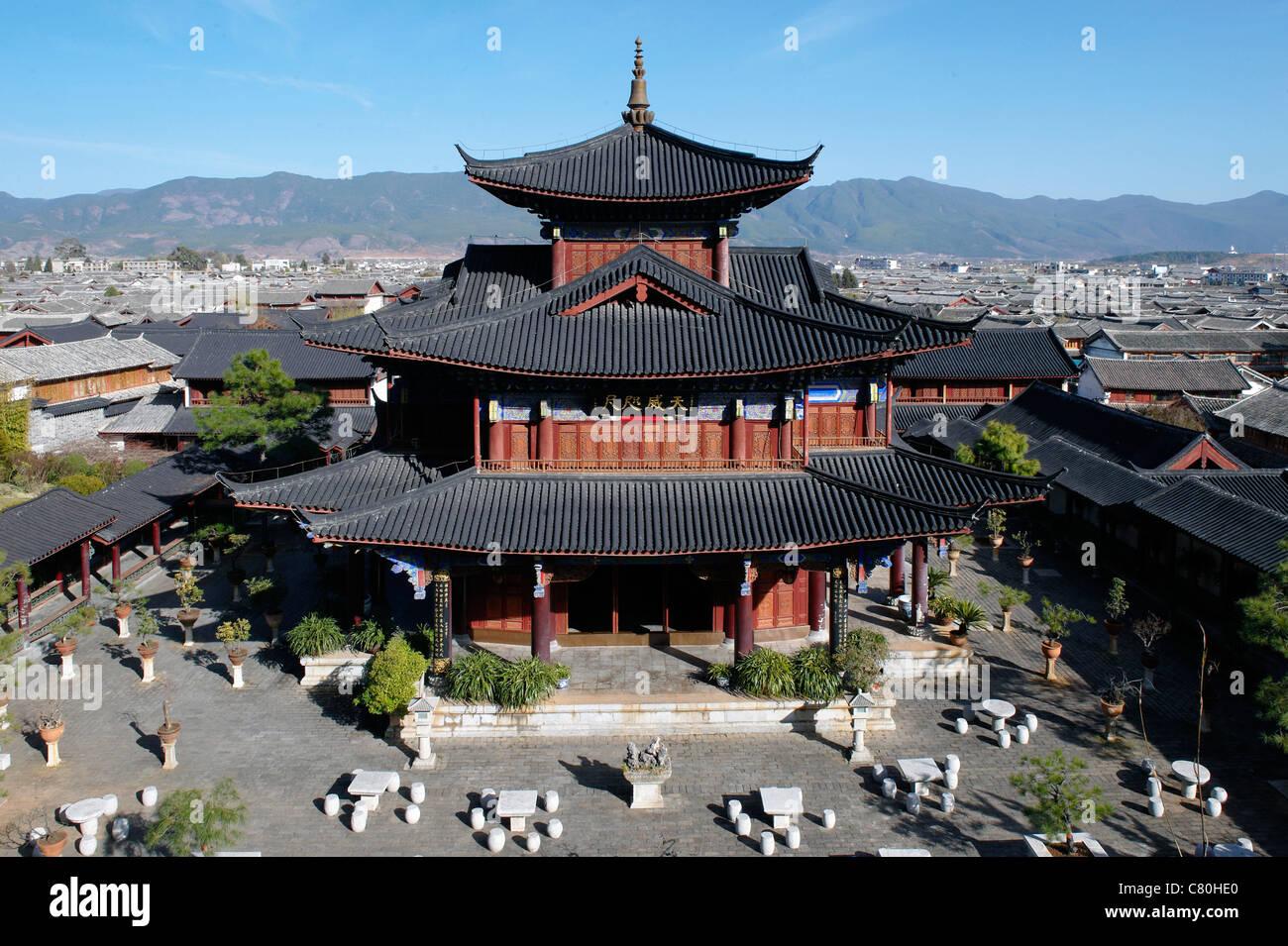 China, Yunnan, Lijiang, Mu Family Mansion, Ming Dynasty - Stock Image