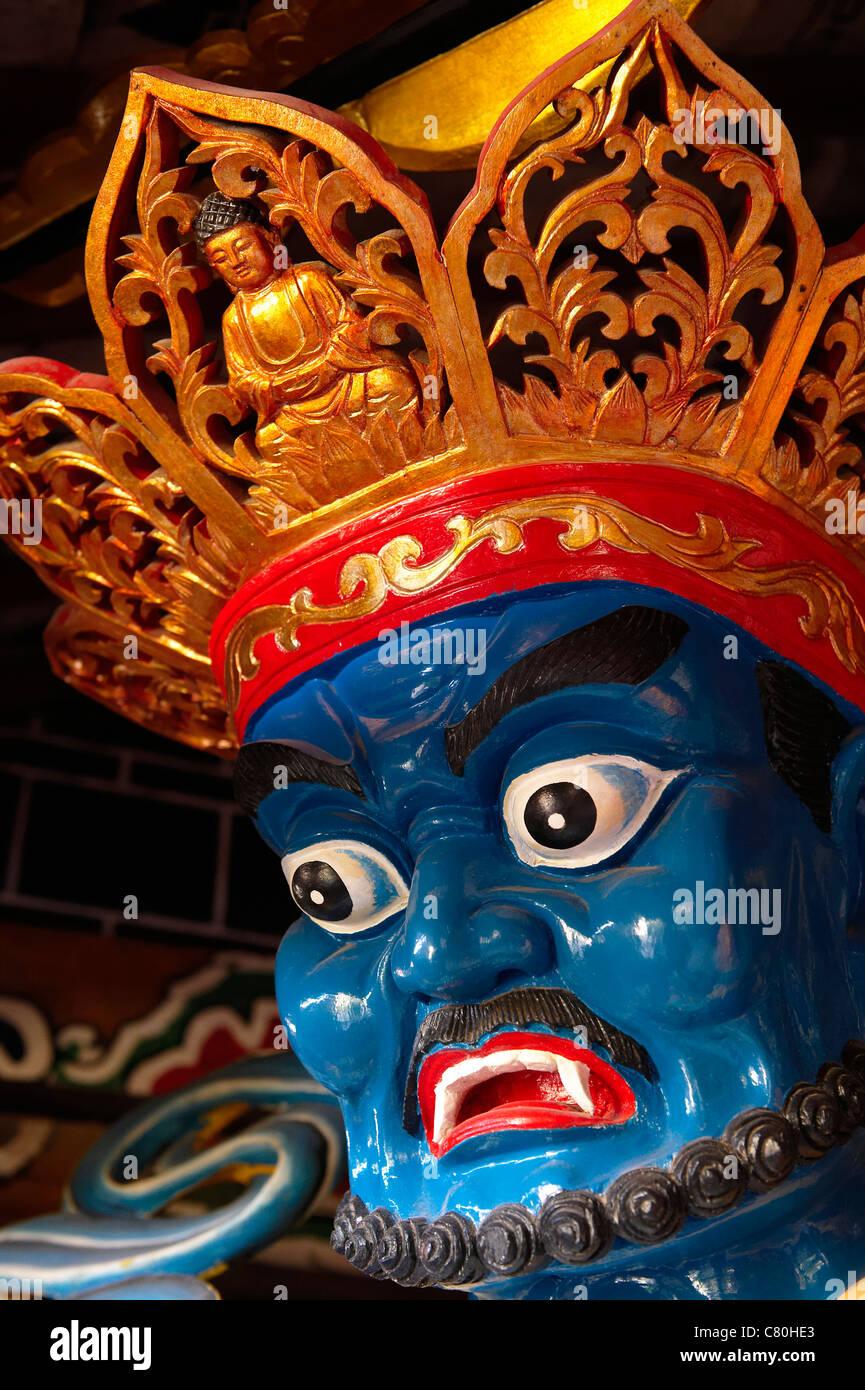 China, Yunnan, Lijiang, White Horse Dragon Buddhist temple - Stock Image