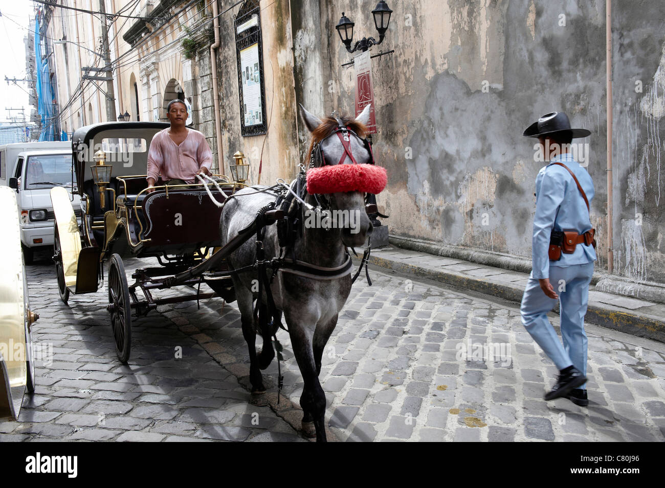 Philippines, Manila, carriage in the old town - Stock Image