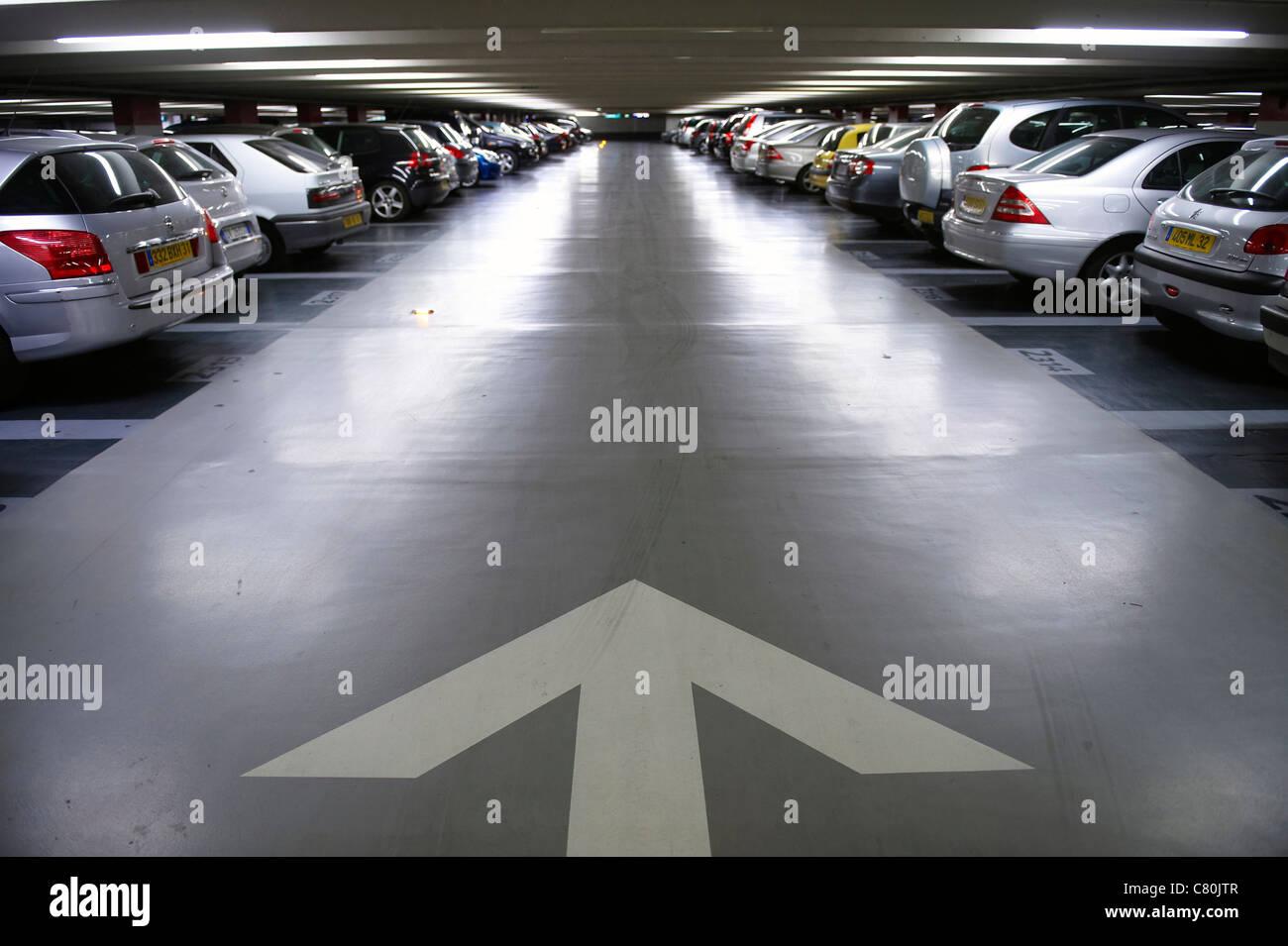 France, Midi Pyrenees, Haute Garonne, Toulouse, Capitole Parking - Stock Image