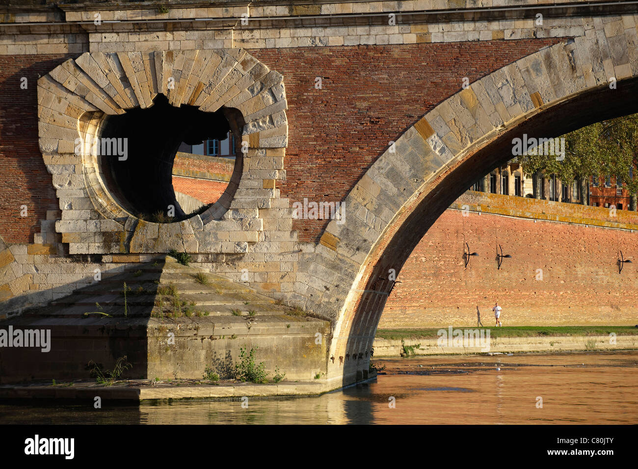 France, Haute-Garonne, Toulouse, Garonne River, Pont Neuf Bridge - Stock Image