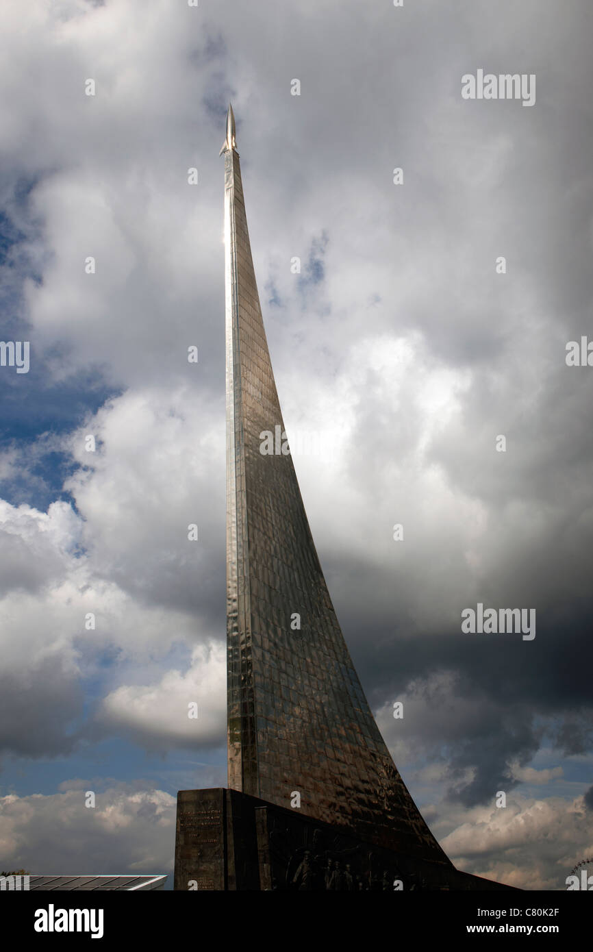 Russia, Moscow, Cosmos Space Monument - Stock Image