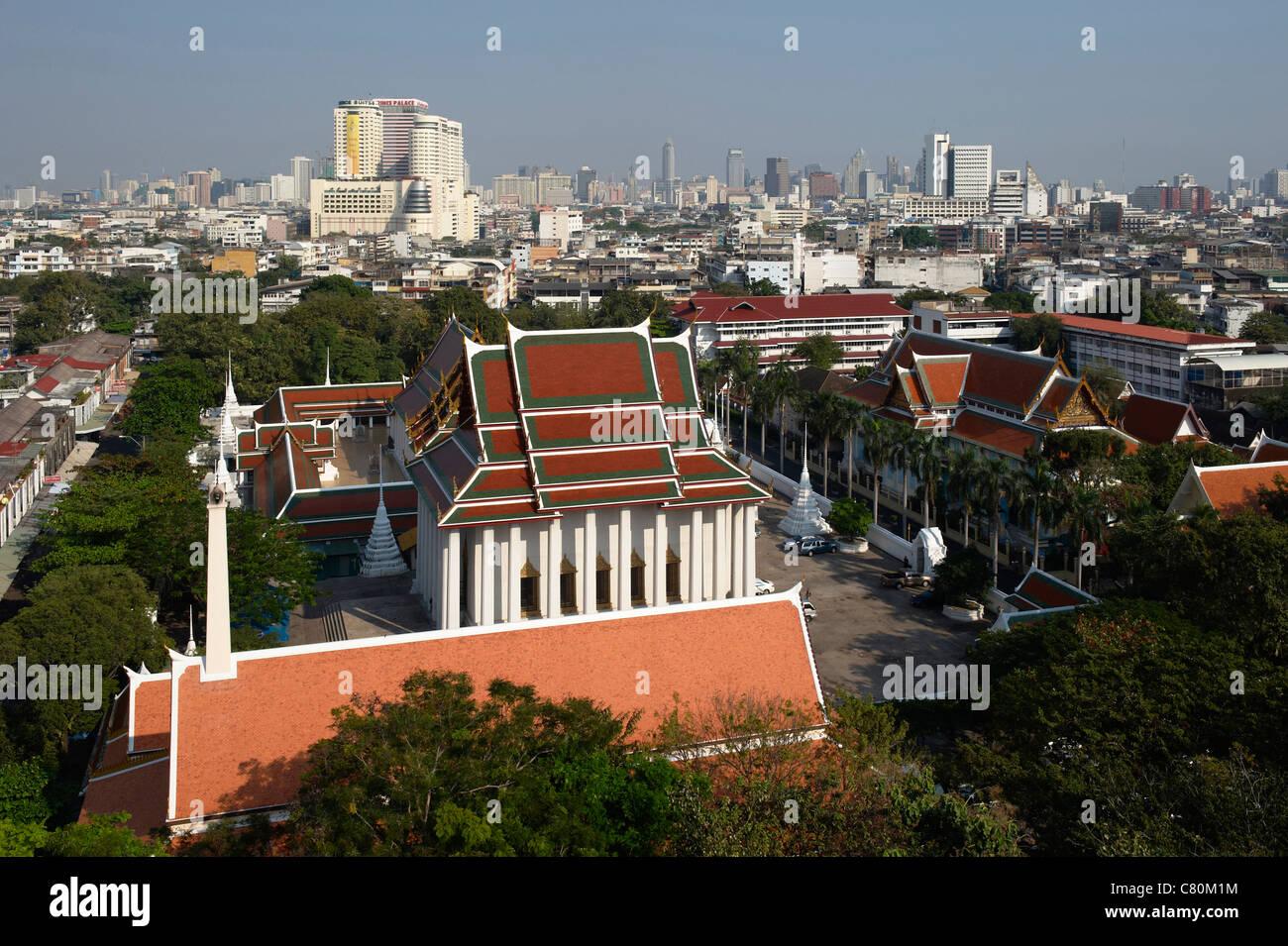 Thailand, Bangkok, Wat Sa Ket Buddhist Temple - Stock Image
