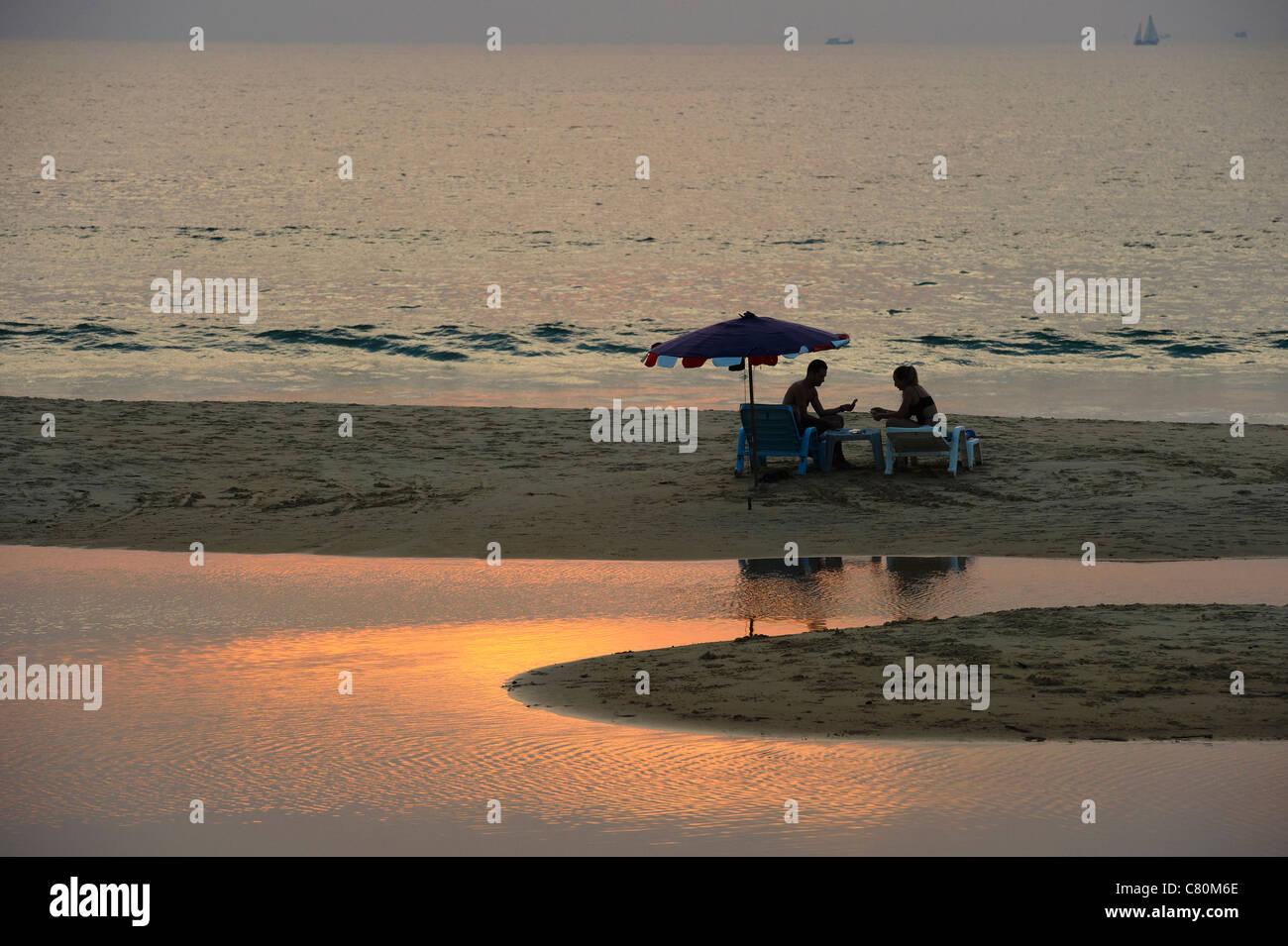 Thailand, Phuket island, Karon Beach at Sunset - Stock Image