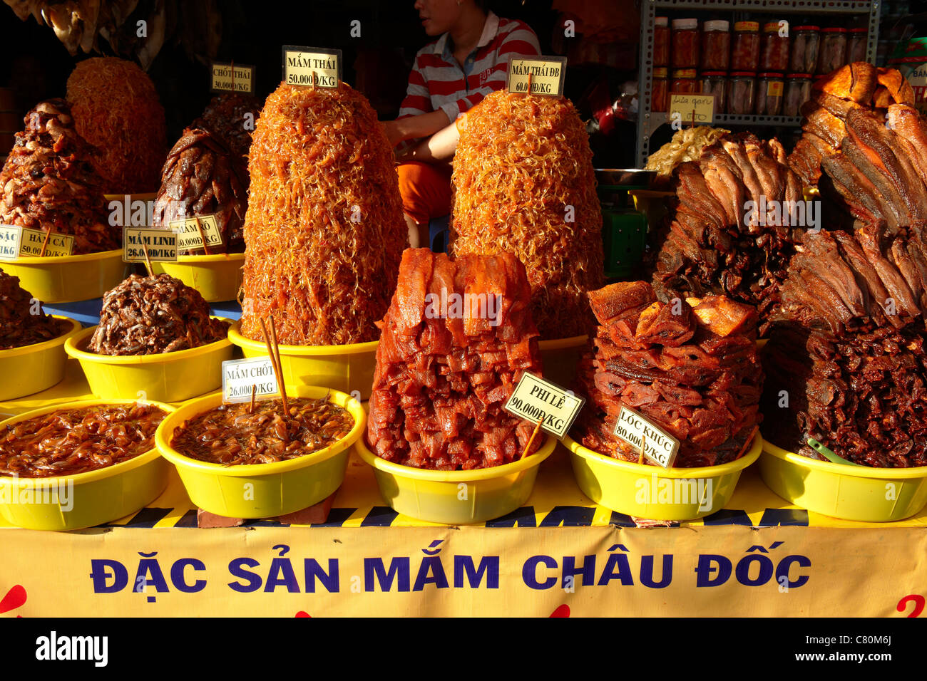 Vietnam, Mekong Delta Region, Chau Doc area, Sam Mountain Market - Stock Image