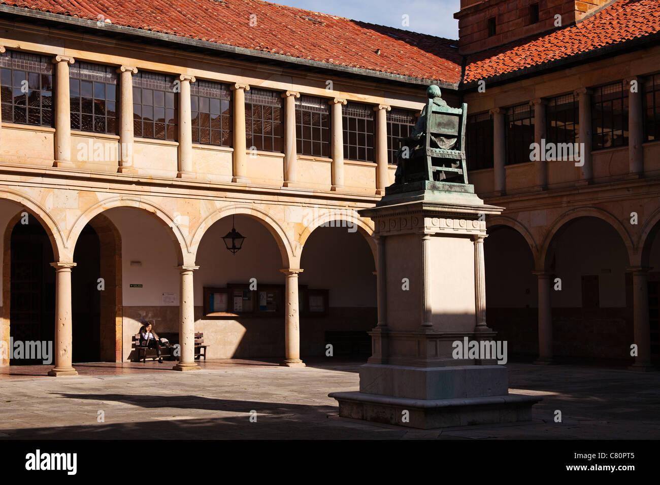 Historical university building Oviedo Asturias Spain - Stock Image