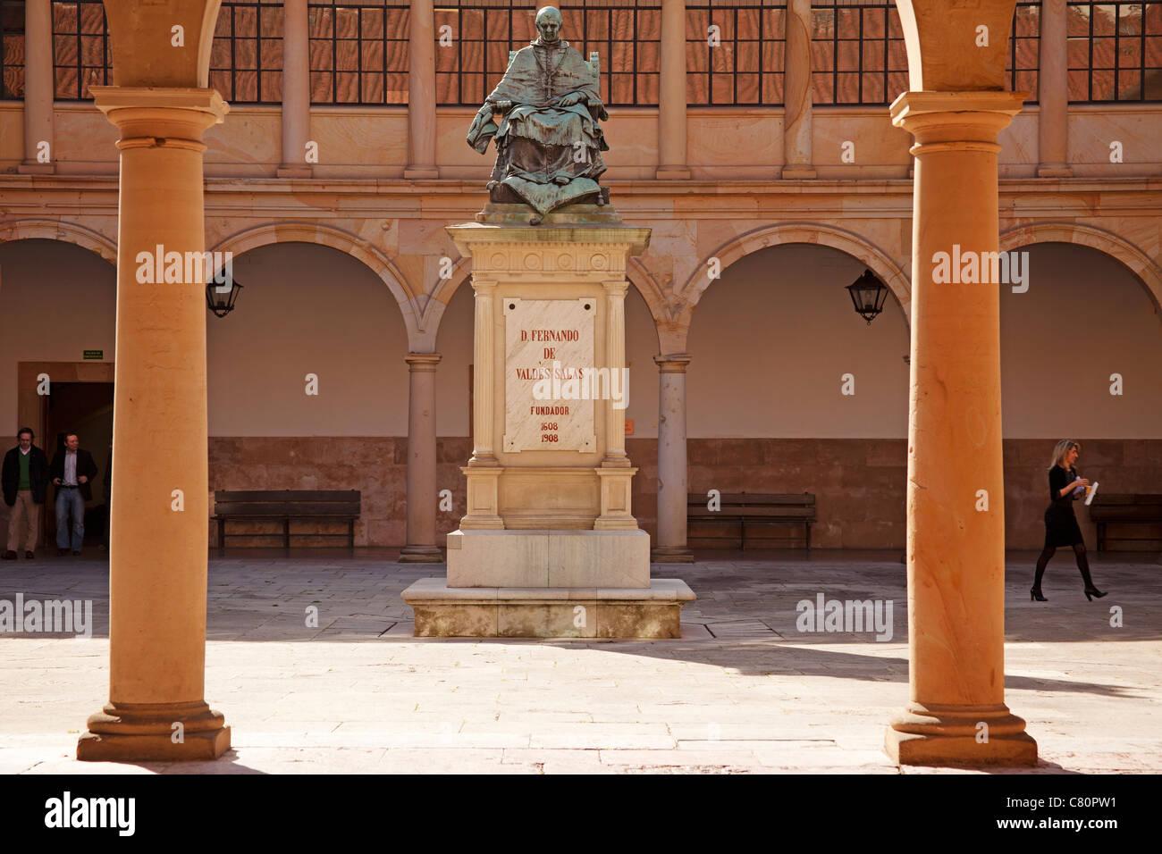 Historical university building Oviedo Asturias Spain Stock Photo