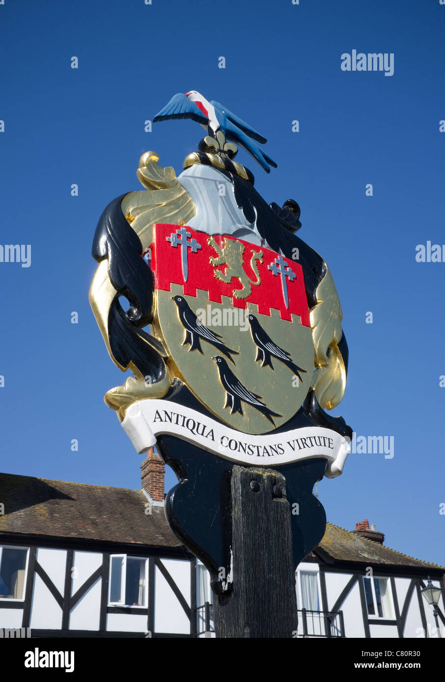 Arundel Town Crest -1 - Stock Image