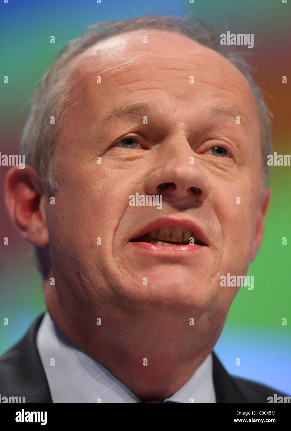 DAMIAN GREEN MP MINISTER FOR IMMIGRATION 04 October 2011 MANCHESTER CENTRAL MANCHESTER ENGLAND - Stock Image