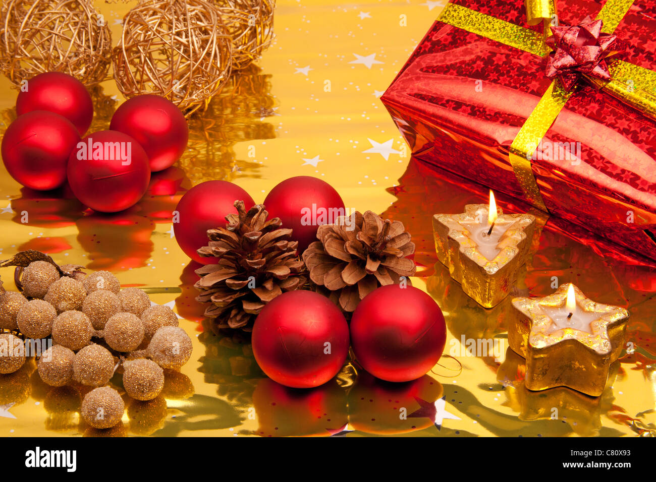 Christmas gifts - Stock Image